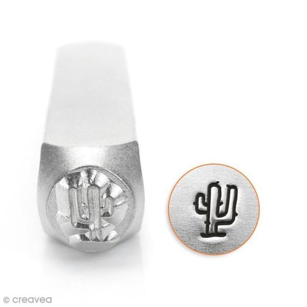 Tampon poinçon pour gravure métal - Cactus - 6 mm - Photo n°1