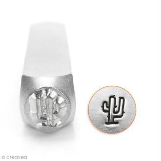 Tampon poinçon pour gravure métal - Cactus - 6 mm