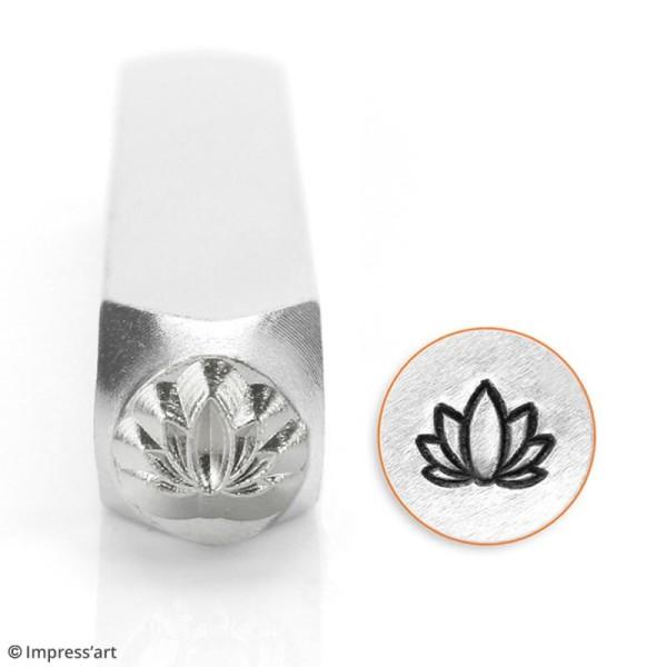 Tampon poinçon pour gravure métal - Lotus - 6 mm - Photo n°2