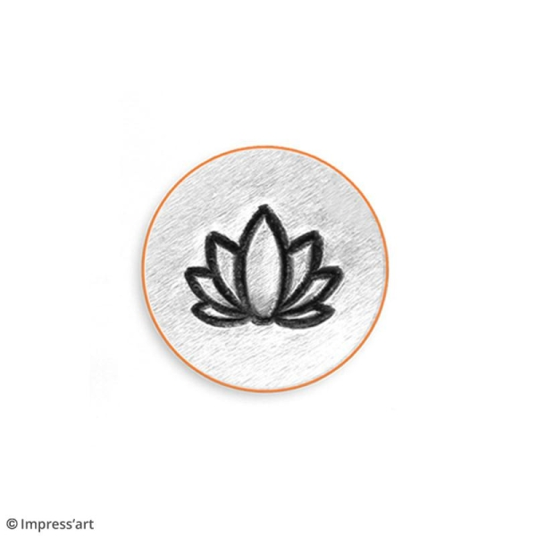 Tampon poinçon pour gravure métal - Lotus - 6 mm - Photo n°4