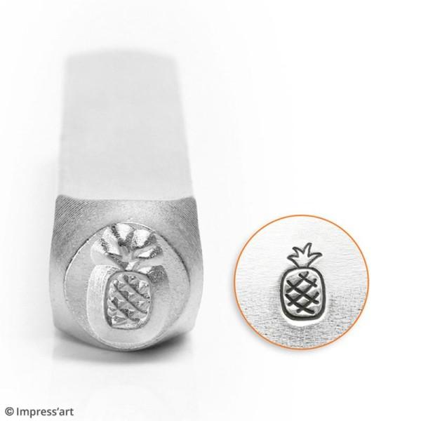 Tampon poinçon pour gravure métal - Ananas - 6 mm - Photo n°2
