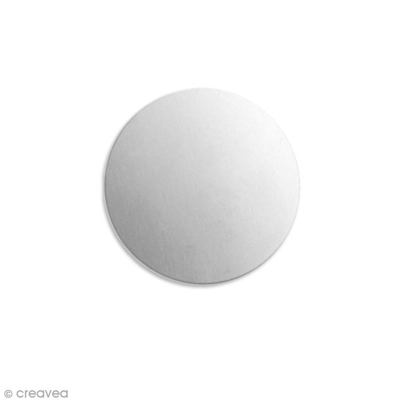 Disque à graver - Alkemé (Etain) - 2,5 cm - 4 pcs - Photo n°1