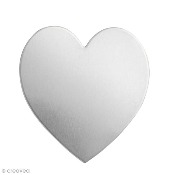 Coeur à graver - Alkemé (Etain) - 2 x 1,9 cm - 9 pcs - Photo n°1