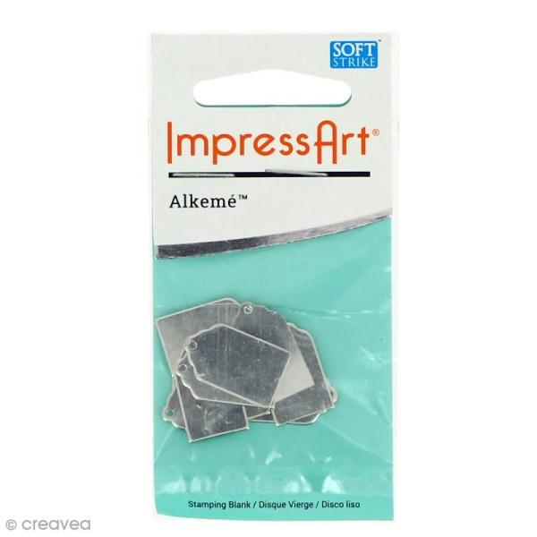 Médaille étiquette à graver - Alkemé (Etain) - 1,2 x 2 cm - 9 pcs - Photo n°1