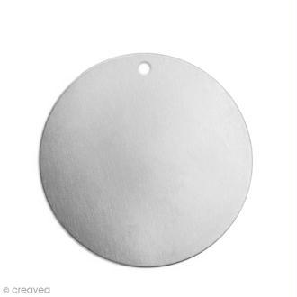 Petite médaille ronde à graver - Alkemé (Etain) - 1,2 cm - 15 pcs