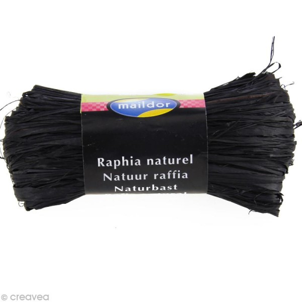 Raphia naturel Noir 50 g - Photo n°1