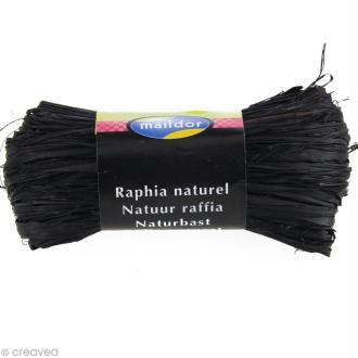 Raphia naturel Noir 50 g