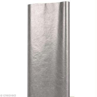 Papier de soie Argent x 8 feuilles 50 x 75 cm