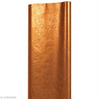 Papier de soie Cuivre x 8 feuilles 50 x 75 cm