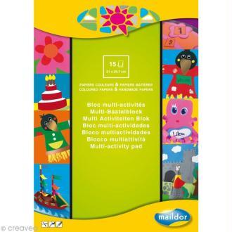 Bloc papier multi-activités A4 x 15 feuilles