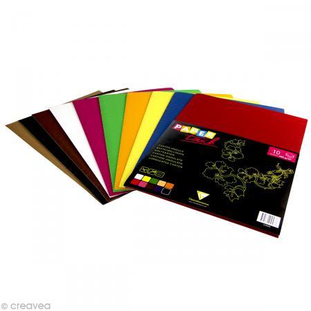 Carton ondulé 22 x 32 cm - Assortiment couleur x 10 - Paper touch by Clairefontaine