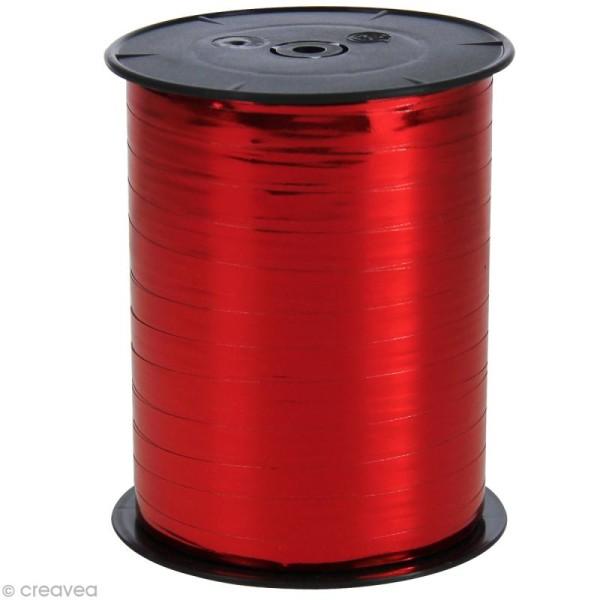 Bobine bolduc 7 mm Rouge métallisé x 250 m - Photo n°1