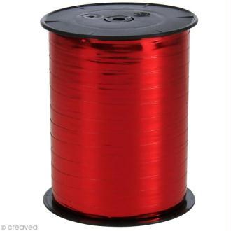 Bobine bolduc 7 mm Rouge métallisé x 250 m