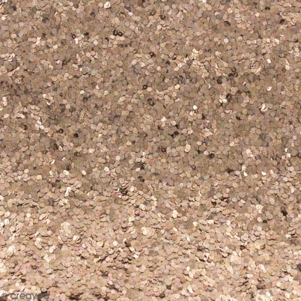 Coupon de tissu pailleté - 50 x 69 cm - Caviar Bronze - Photo n°1