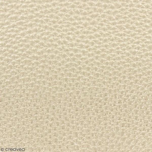 Tissu Simili cuir irisé - Doré - Par 10 cm (sur mesure) - Photo n°1