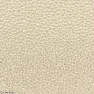 Tissu Simili cuir irisé - Doré - Par 10 cm (sur mesure)