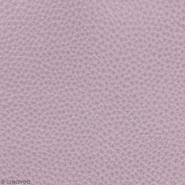 Tissu Simili cuir irisé - Rose gold - Par 10 cm (sur mesure) - Photo n°1