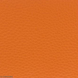 Tissu Simili cuir irisé - Orange - Par 10 cm (sur mesure)