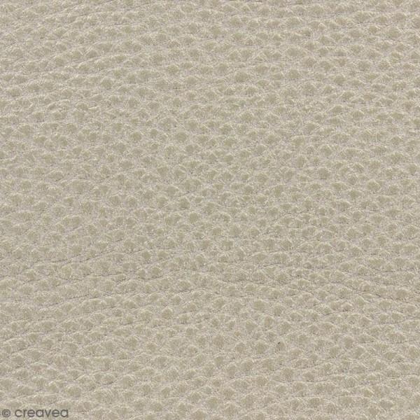 Tissu Simili cuir irisé - Doré foncé - Par 10 cm (sur mesure) - Photo n°1