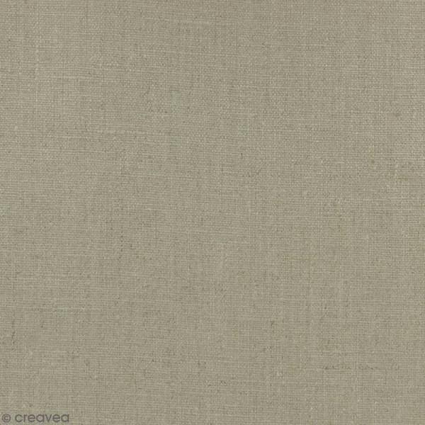 Tissu Lin enduit - Naturel - Par 10 cm (sur mesure) - Photo n°1