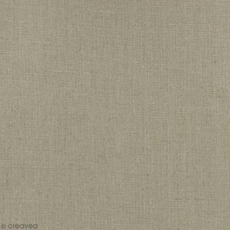 Tissu Lin enduit - Naturel - Par 10 cm (sur mesure)