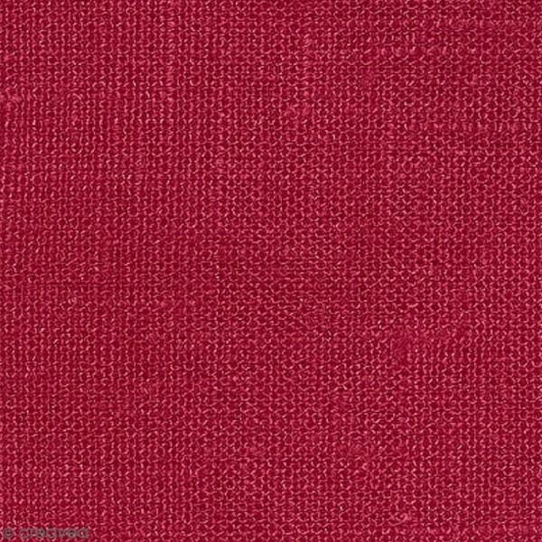 Tissu Lin enduit - Rouge - Par 10 cm (sur mesure) - Photo n°1