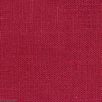 Tissu Lin enduit - Rouge - Par 10 cm (sur mesure)
