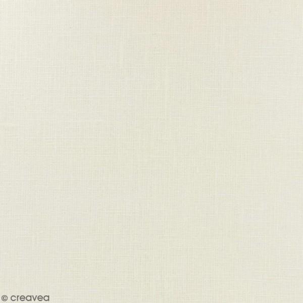 Tissu Lin enduit - Ivoire - Par 10 cm (sur mesure) - Photo n°1