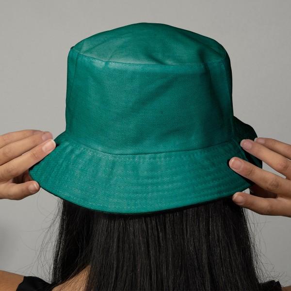 Tissu Lin enduit - Bleu turquoise - Par 10 cm (sur mesure) - Photo n°2