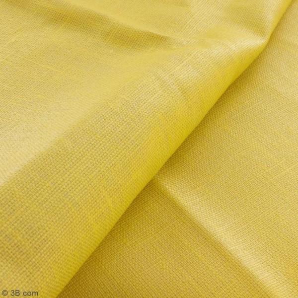 Tissu Lin enduit - Jaune curry - Par 10 cm (sur mesure) - Photo n°2