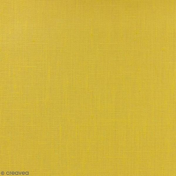 Tissu Lin enduit - Jaune curry - Par 10 cm (sur mesure) - Photo n°1