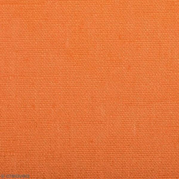 Tissu Lin enduit - Abricot - Par 10 cm (sur mesure) - Photo n°1