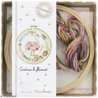 Kit broderie - Gontran le flamant