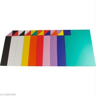 Papier Cartoline bicolore A4 - Assortiment x 100