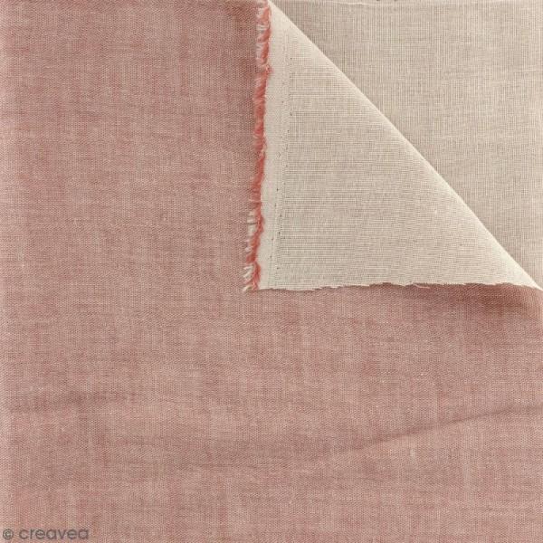 Tissu double gaze Chambray - Rouge - Par 10 cm (sur mesure) - Photo n°1
