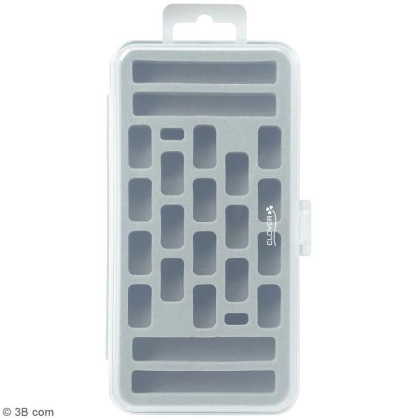 Boîte de rangement pour navette à dentelle et bobines - 24 emplacements - Photo n°2