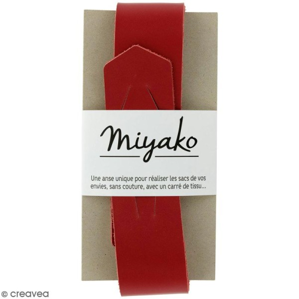 Anse sans couture Miyako - Rouge - 50 x 4 cm - Photo n°1