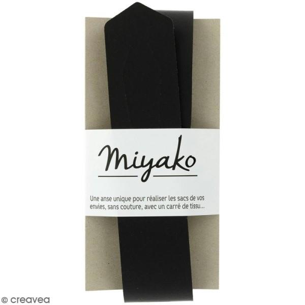 Anse sans couture Miyako - Noir - 50 x 4 cm - Photo n°1