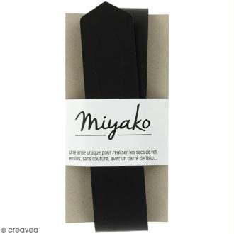 Anse sans couture Miyako - Noir - 50 x 4 cm