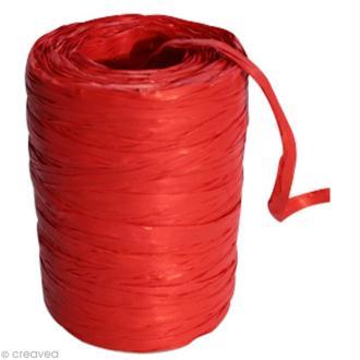 Raphia synthétique Rouge 0,5 à 1,6 cm x 100 m