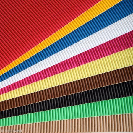 Carton ondulé 50 x 35 cm - Assortiment couleur x 15 - Maildor