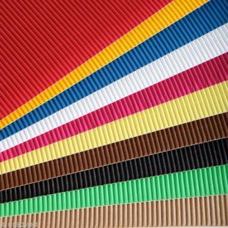 Carton ondulé 50 x 35 cm - Assortiment couleur x 15