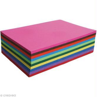 Papier carte couleur 270 gr A4 - Assortiment x 100 feuilles