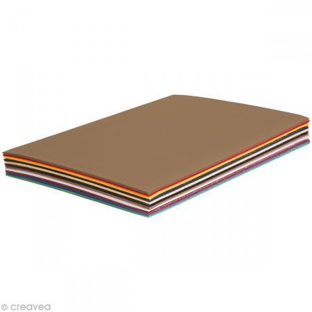 Carton ondulé A4 - Assortiment couleur x 30 - Maildor