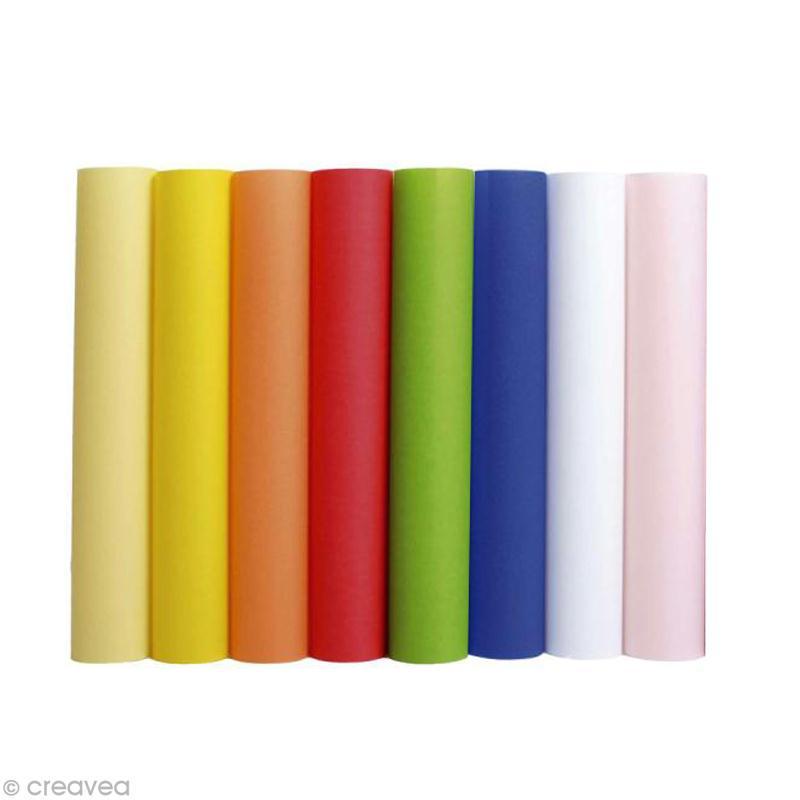 papier calque couleur a4 assortiment x 80 feuilles papier calque creavea. Black Bedroom Furniture Sets. Home Design Ideas
