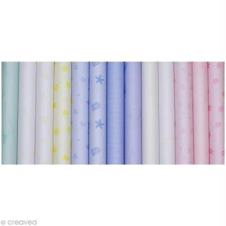 Papier calque couleur motif A4 Assortiment x 80 feuilles