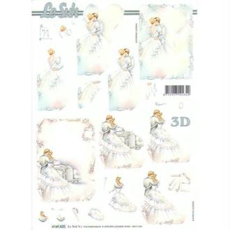 Carte 3D - Les mariés 21 x 29,7 cm