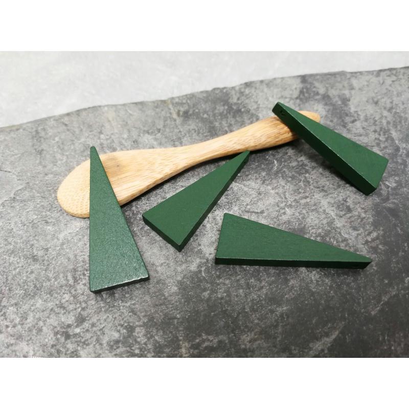 pendentifs triangle en bois vert ethnique 40 x 14 mm 2. Black Bedroom Furniture Sets. Home Design Ideas
