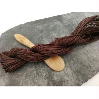 Cordon cordellete marron, 1 mm, Shamballa macramé, cordelette nylon