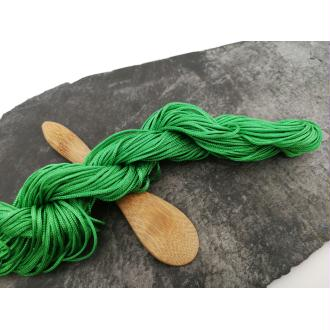 Cordon nylon pour shamballa, cordelette tissage macramé, vert, 1 mm